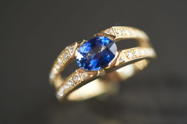 Bague Saphir Diamant