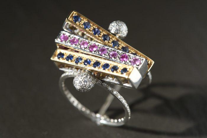 Bague Saphir Diamants