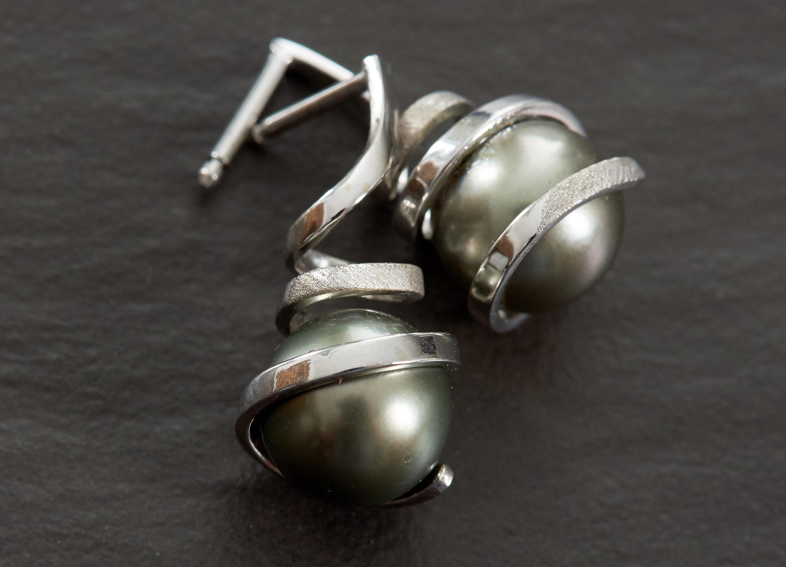 Boucle d'oreille Perle de Tahiti