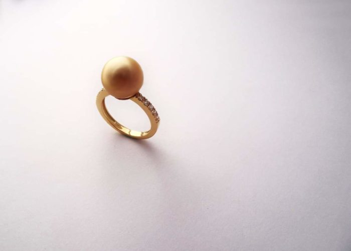 Bague Perle Gold Diamants