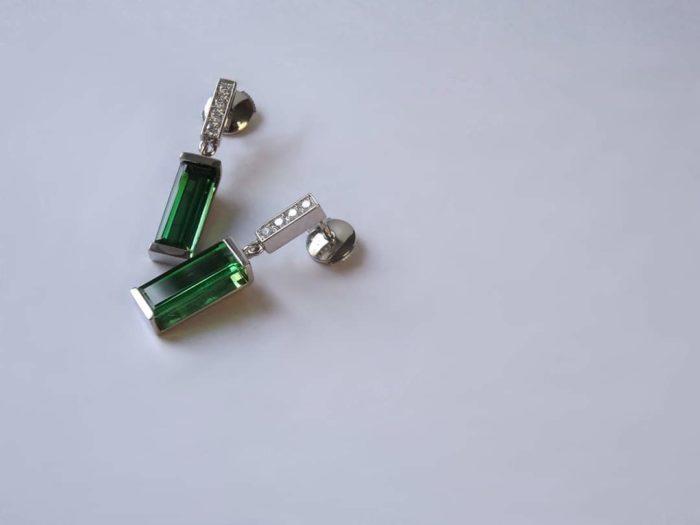 Boucle d'oreille Tourmaline Diamants